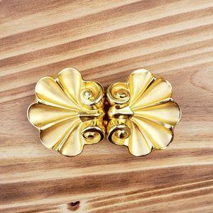 Vintage Paquette gold belt buckles